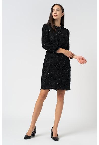 L.K. Bennett Sparkle tweed ruha bársonyos szegélyekkel és flitterekkel női
