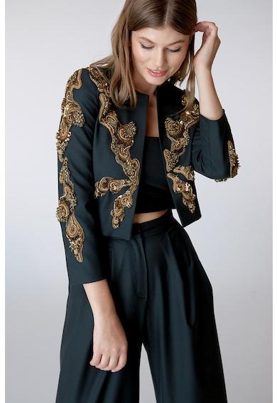 Alina Cernatescu Magna kézzel hímzett gyapjúblézer női