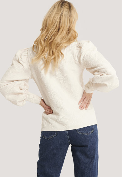 NA-KD Bluza cu maneci bufante Femei