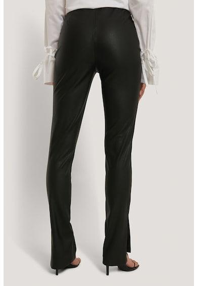 NA-KD Műbőr leggings oldalhasítékokkal női