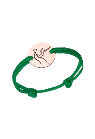 Serenity Húzózsinóros gyűrű 14 karátos vörösarany medállal női