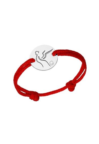Serenity Húzózsinóros gyűrű 14 karátos fehérarany medállal és cserélhető zsinórral női