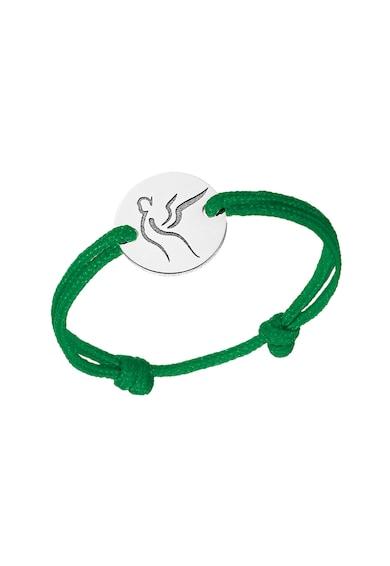 Serenity Húzózsinóros gyűrű 14 karátos fehérarany bevonatú medállal női
