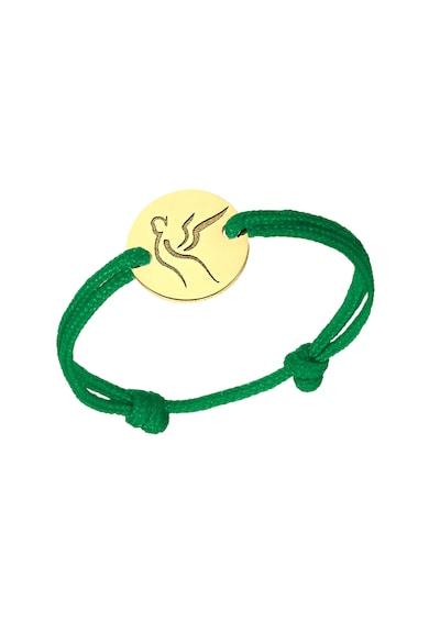 Serenity Húzózsinóros gyűrű 14 karátos arany medállal és cserélhető zsinórral női