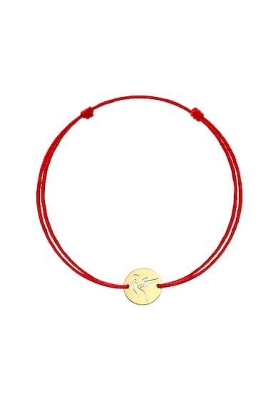 Serenity Bratara cu snur de matase si talisman din aur de 14K Femei