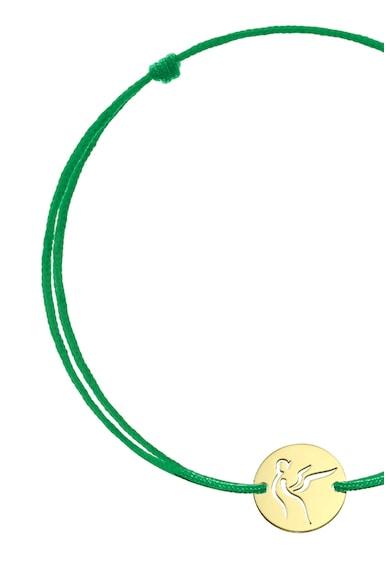 Serenity Selyemzsinóros karkötő 14 karátos arany medállal női