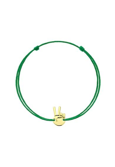 Serenity Bratara cu snururi intersanjabile de matase si talisman din aur de 14K Femei