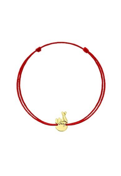 Serenity Lucky karkötő 14 karátos arany medállal és cserélhető selyemzsinórral női