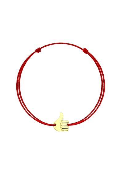 Serenity Bratara cu snururi intersanjabile de matase si talisman din aur de 14K Okish Femei
