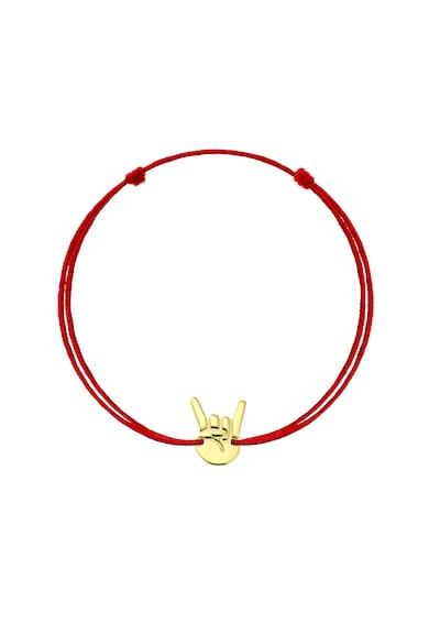 Serenity Rock On karkötő 14 karátos arany medállal és cserélhető selyemzsinórral női