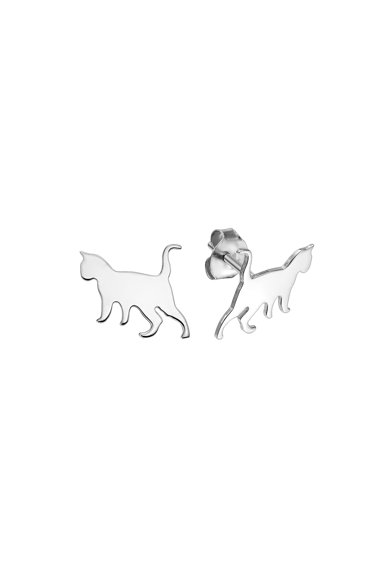 Serenity Macska alakú 926 sterling ezüst fülbevaló női