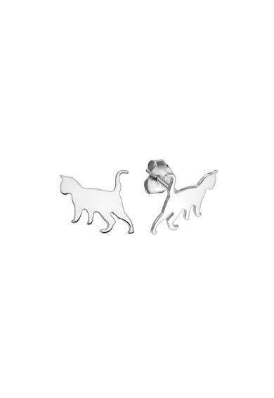 Serenity Macska alakú 14 karátos fehérarany fülbevaló női