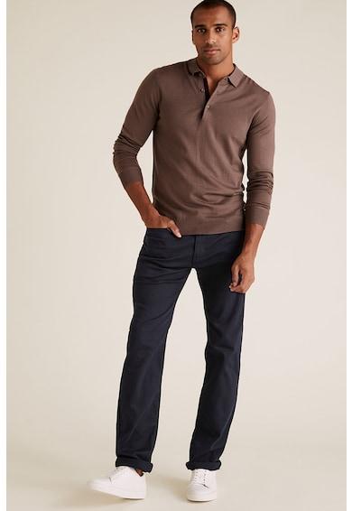 Marks & Spencer Rugalmas straight fit farmernadrág férfi