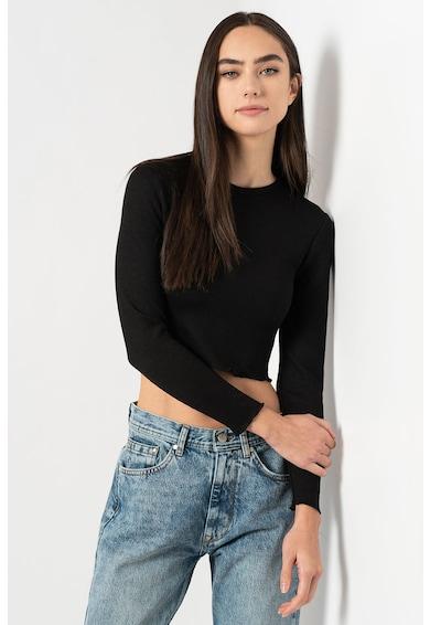 Only Kitty crop dzsörzé pulóver női