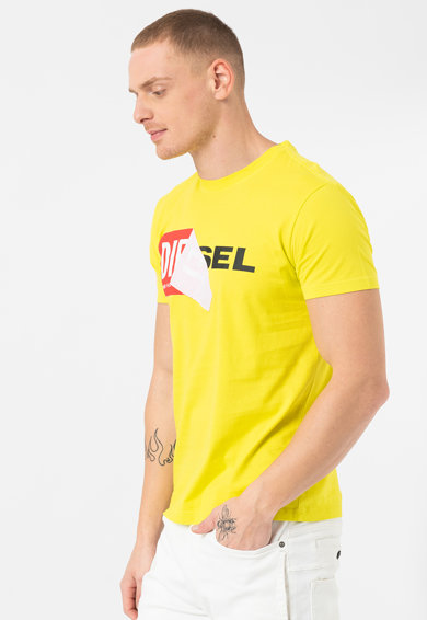 Diesel Tricou cu imprimeu logo Barbati