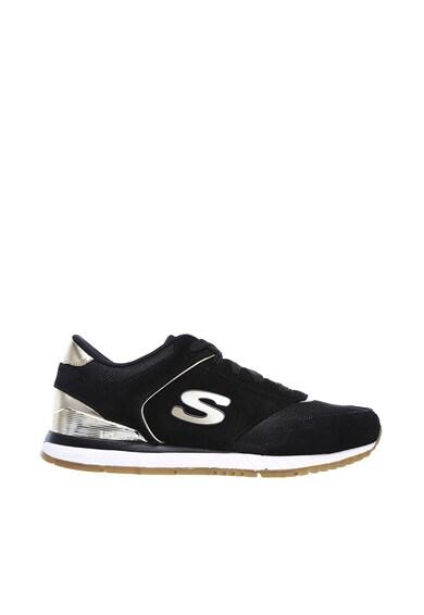 Skechers Sunlite - Revival nyersbőr sneaker hálós részletekkel női