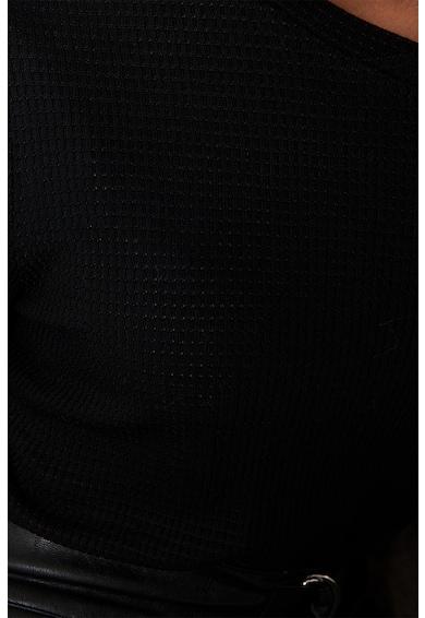 NA-KD Bordázott blúz puffos ujjakkal női