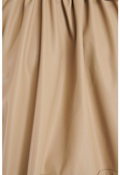 NA-KD Műbőr felső puffos ujjakkal női