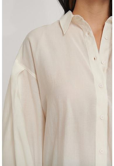 NA-KD Lyocell-tartalmú bő fazonú ing zsebbel a mellrészén női