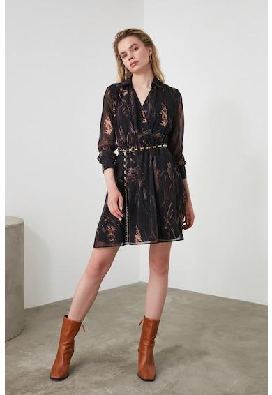 Trendyol Virágmintás átlapolós ruha női