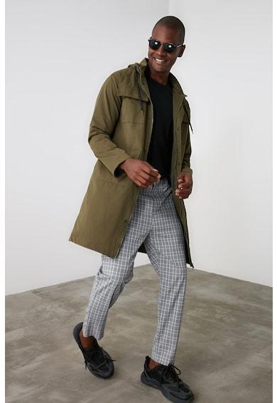 Trendyol Hosszú dzseki kapucnival férfi
