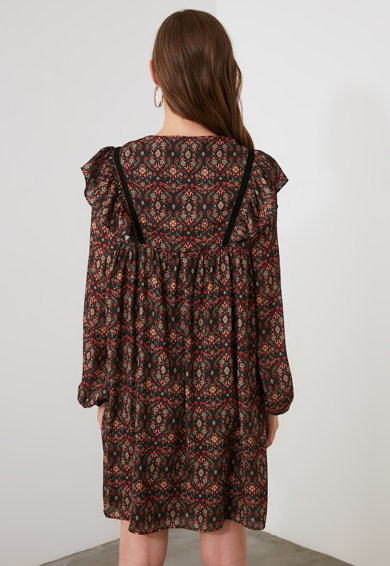 Trendyol Etno mintás miniruha női