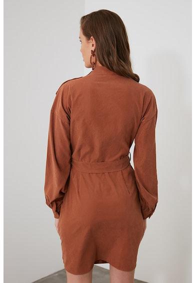 Trendyol Díszgombos ruha megkötővel a derekánál női