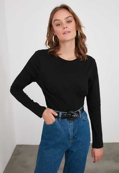 Trendyol Kerek nyakú felső női