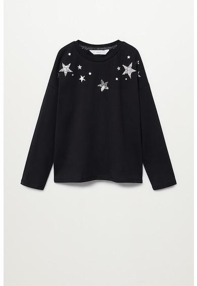 Mango Miriam pulóver csillag alakú rátétekkel Lány
