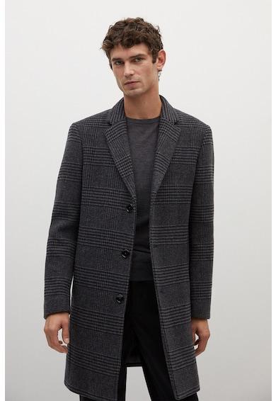 Mango Utah újrahasznosított gyapjútartalmú kockás kabát férfi