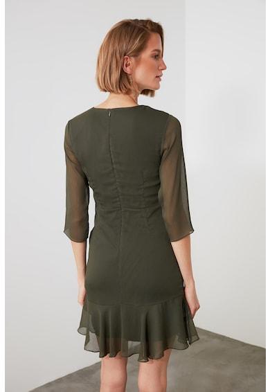 Trendyol V-nyakú miniruha húzott részlettel női
