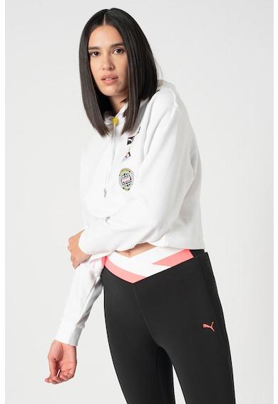 Puma Kapucnis crop pulóver logóval női