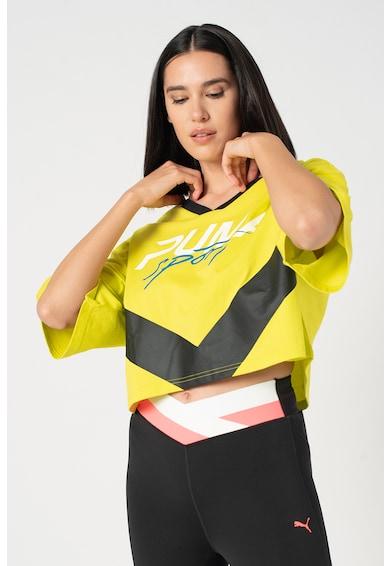 Puma Laza fazonú crop póló logóval női