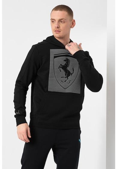 Puma Ferrari Big Shield mintás kapucnis felső kenguruzsebbel férfi