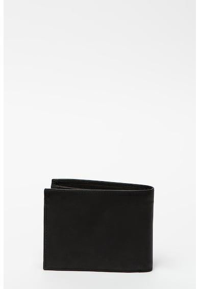 Pierre Cardin Összehajtható bőr pénztárca logórátéttel férfi