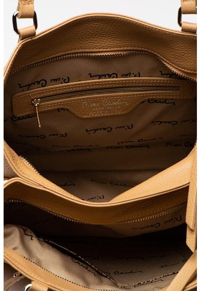 Pierre Cardin Bőr válltáska cipzáros zsebbel az elején női