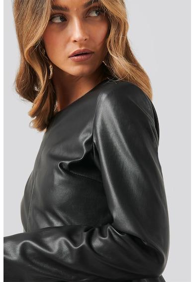 NA-KD Rochie mini de piele ecologica cu maneci lungi Femei