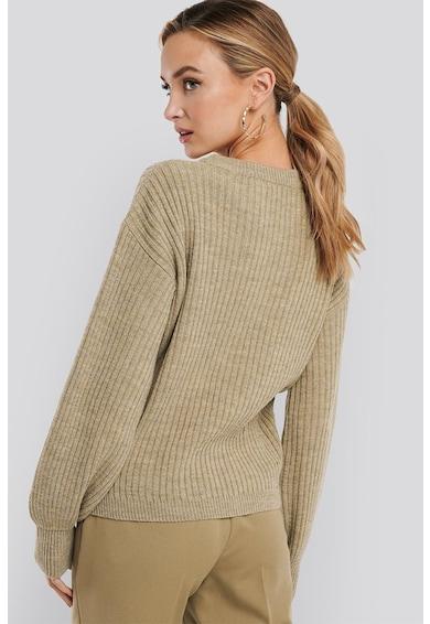 NA-KD Gyapjútartalmú bordázott kötött pulóver női