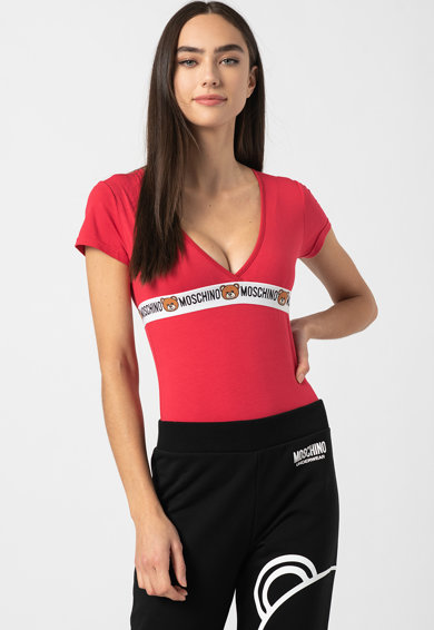 Moschino Rövid ujjú body logós részlettel női