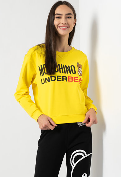 Moschino Pulóver nagyméretű logóval női
