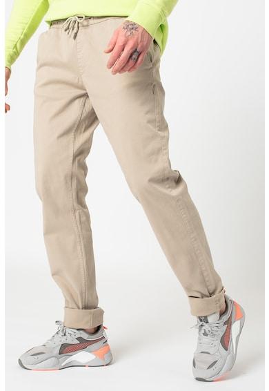 OVS Slim fit nadrág megkötővel férfi