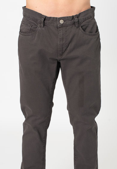 OVS Normál derekú slim fit nadrág apró tyúklábmintával férfi