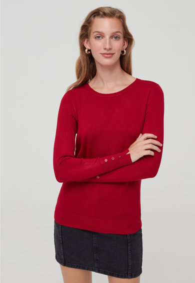 OVS Finomkötött dzsörzé pulóver női