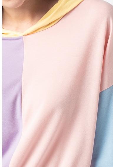Missguided Colorblock dizájnú crop pulóver kapucnival női