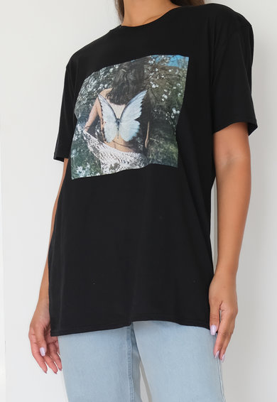 Missguided Kerek nyakú mintás póló női