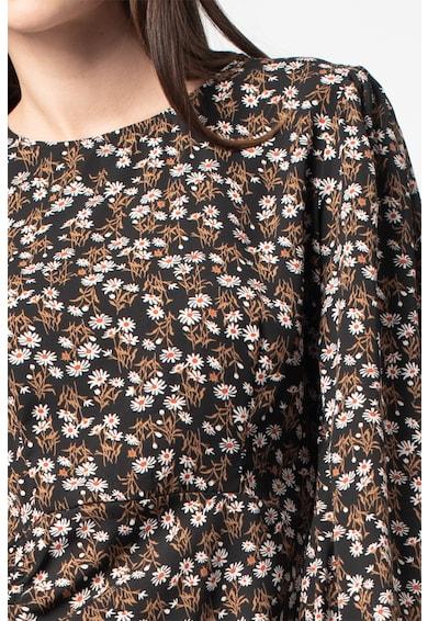 Missguided Virágmintás bővülő ruha húzott megkötővel női