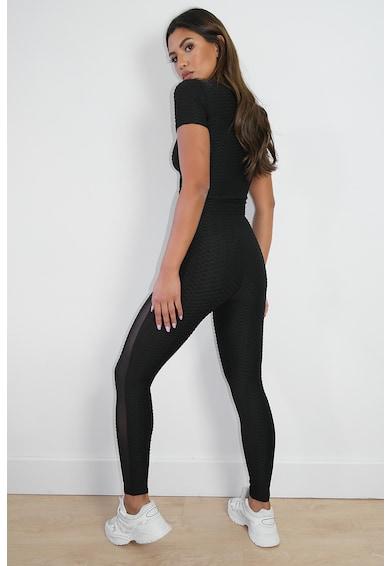 Missguided Texturált leggings áttetsző betétekkel női