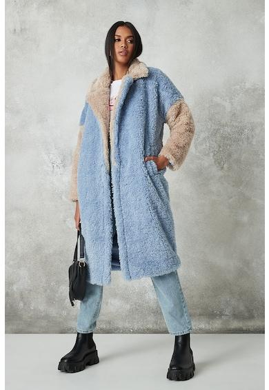 Missguided Bolyhos kabát megkötővel női