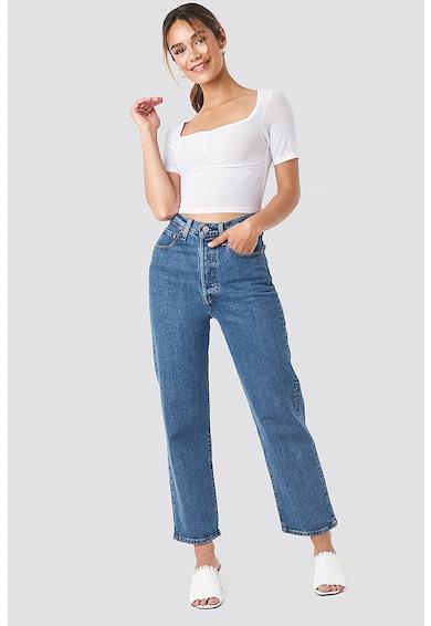 NA-KD Crop póló szögletes nyakrésszel női
