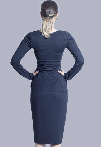 Azaris Szögletes nyakkivágású bodycon fazonú ruha női